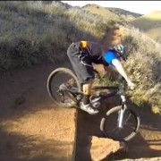 Descending Switchbacks on a Mountain Bike
