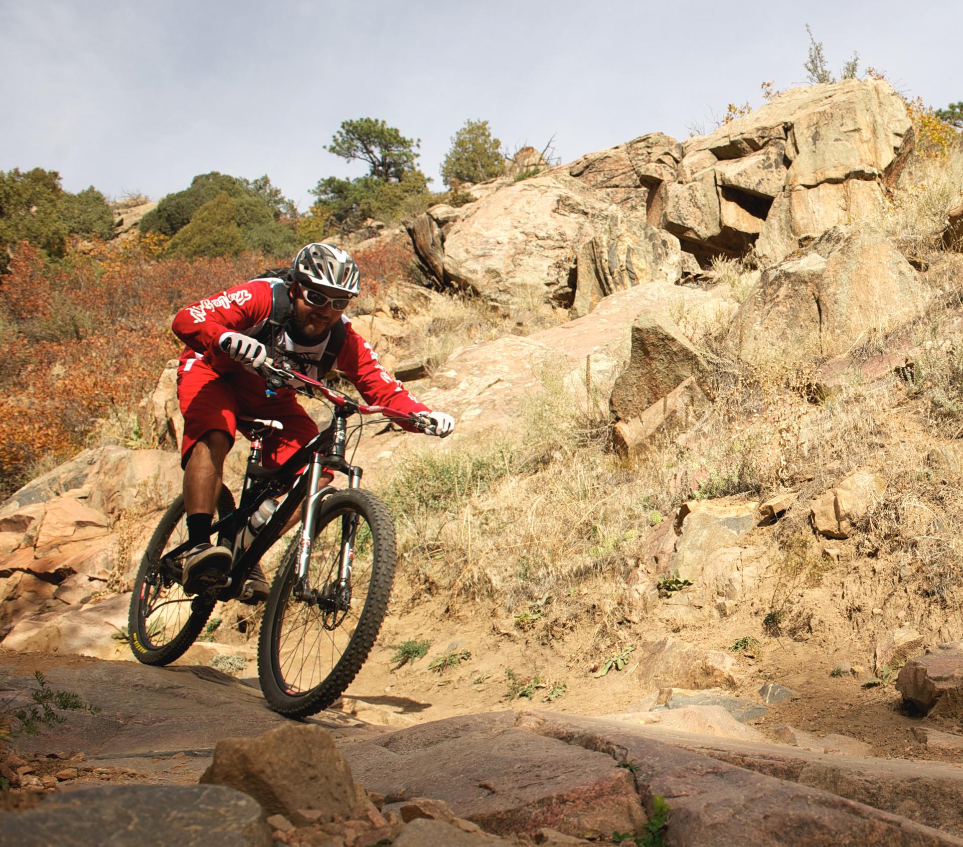 21 OCT 2011:  Mountain biking the trails of Deer Creek in Littleton,CO.